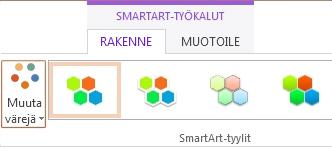 SmartArt-tyylit-ryhmän Muuta väriä -painike
