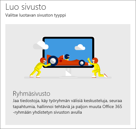 SharePoint Office 365 sivuston luominen