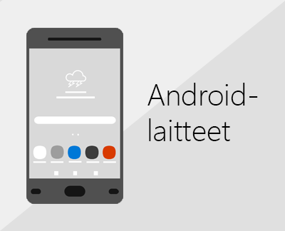 Officen ja sähköpostin määrittäminen napsauttamalla Android-laitteissa