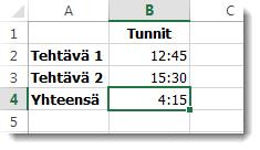 Yhteenlaskettu aika, joka on yli 24 tuntia, antaa odottamattoman tuloksen 4:15