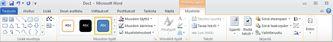 Muotoile-välilehti Piirtotyökalut-kohdassa Word 2010:ssä