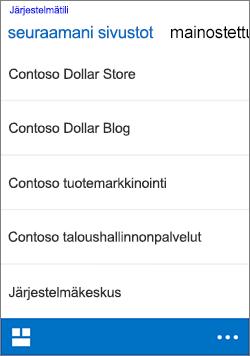 iOS-sivustojen seuraaminen