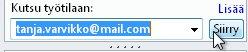 Kutsuminen työtilaan sähköpostiosoitteella