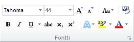 Word 2010 -valintanauhan Aloitus-välilehden Fontti-ryhmä.