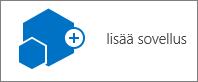 Sivuston sisältö -valintaikkunan Lisää sovellus -kuvake.