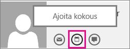 Outlook Web Appin Ajoita kokous -painike