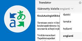 Outlook-sähköpostin lukeminen valitsemallasi kielellä