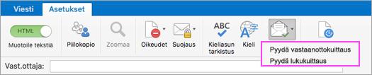 Tilaa ilmoitukset sähköpostin toimittamista varten.