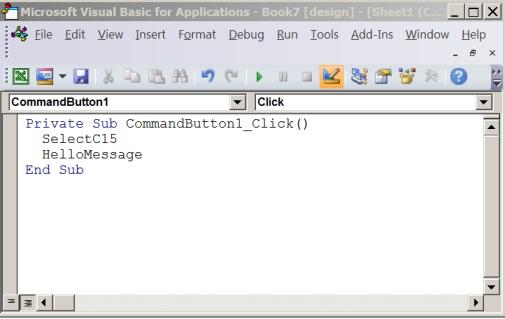 Visual Basic -editorin alitoimintosarja
