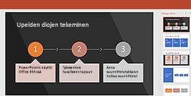 PowerPointin suunnittelutyökalu-ominaisuus