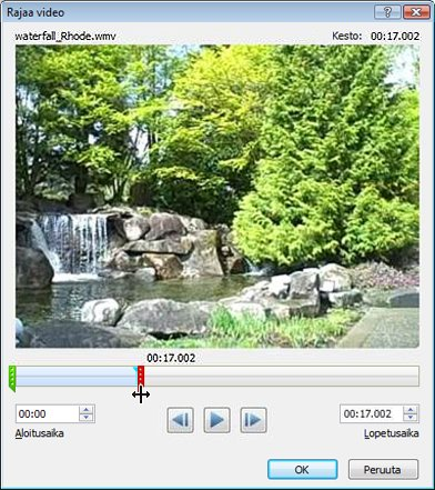 Videon rajaaminen