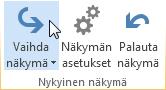 Valintanauhan Näytä-komento