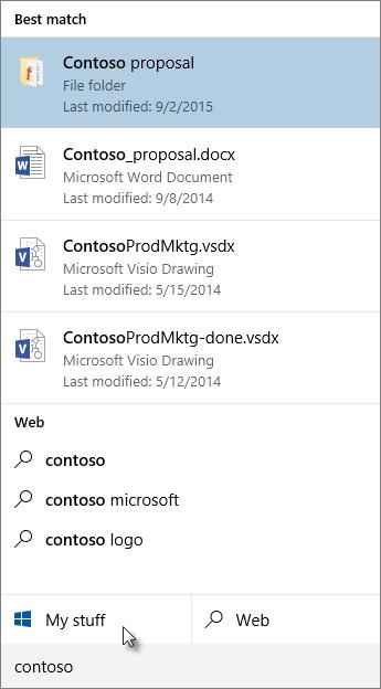 Windows-työpöytähaku