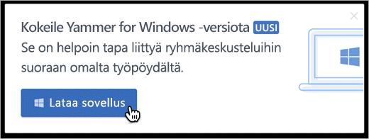 Tuotteen sisäinen viestintä Windowsissa