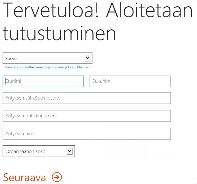 Tervetuloa, tutustutaan -sivu. Kirjoita rekisteröitymistietosi tänne.