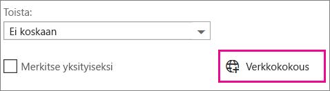 Outlook Web Appin verkkokokous