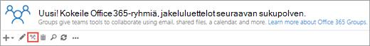 Napsauta tai napauta Päivitä Office 365 -ryhmiin -kuvaketta.