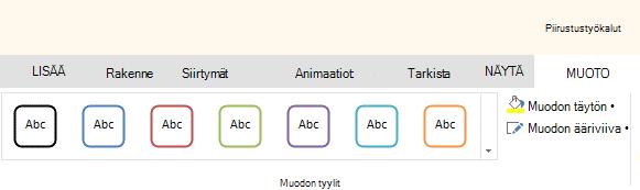 Office Onlinen muoto-Työkalut
