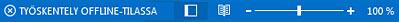 Offline-tila-ilmaisin Outlookin tilarivillä