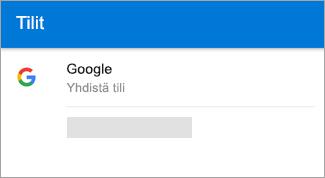Outlook for Android voi löytää automaattisesti Gmail-tilisi.