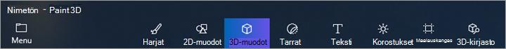 3D muotoja