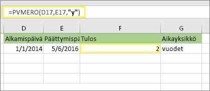 Automaattinen dating Excelissä