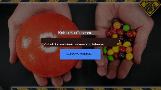 Tässä YouTuben virheilmoituksessa kerrotaan, että flash-upotettuja videoita ei enää tueta