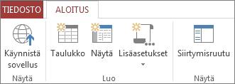 Toiminto tallentaa sovelluksen ja avaa sen selainnäkymässä.
