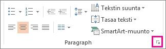 PowerPointin valintanauhan kuva