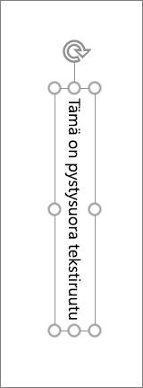 Pystysuoran tekstin pystysuora tekstiruutu