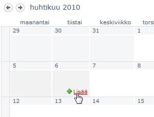Lisää linkki kalenteriin