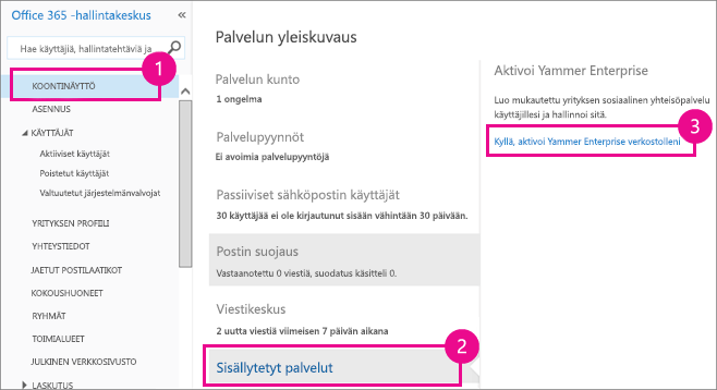 Yammerin aktivointiopas office 365 - Activate yammer office 365 ...