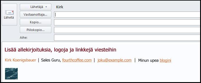 sähköpostiviestin sähköinen allekirjoitus
