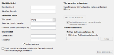Anna IMAP-tiliasetuksesi