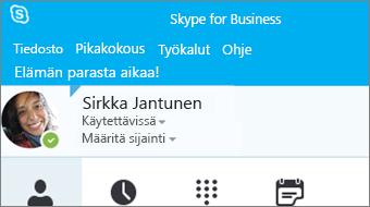 Skype for Business 2016:n käytön aloittaminen