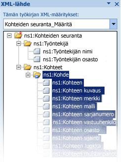 infopath-rakennetiedoston yhdistäminen exceliin