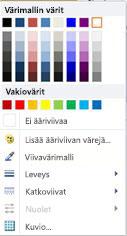 WordArt-muodon ääriviivan muotoiluasetukset Publisher 2010:ssä