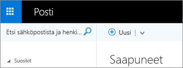 Outlook Web Appin valintanauhan ulkoasu