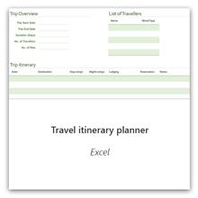 Matkaohjelman suunnittelu Excelille