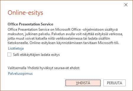 Näyttö kuva esitä online-valinta ikkunasta