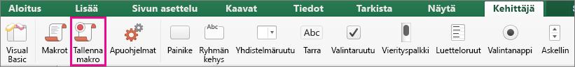 Tallenna makro Excel for Macissa