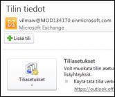 Lisää uusi sähköpostitili Outlook 2010:een