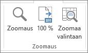 Näytä-välilehden Zoomaus-ryhmä