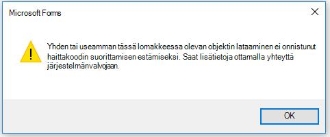 Outlook-virhe