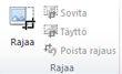 Publisher 2010:n Kuvatyökalut-välilehden Rajaa-ryhmä