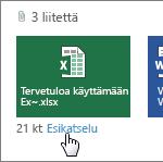 Office-liitteiden esikatselu Outlook Web App -sovelluksessa