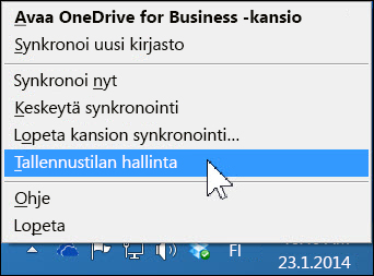 OneDrive for Business -tallennustilan hallinta