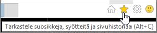 Internet Explorerin Syöte-painike