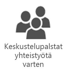 PMO – keskustelupalstat yhteistyötä varten