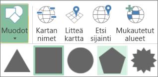 3D Mapsin Shapes-vaihtoehto